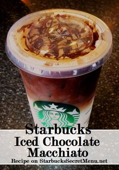 Starbucks Secret Menu Iced Chocolate Macchiato! Recipe here: http://starbuckssecretmenu.net/starbucks-secret-menu-chocolate-macchiato/