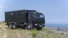 KAMAZ truck renovated for a home
