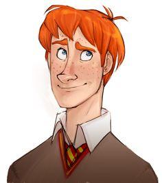 Ron Weasley, Harry Potter Fan Art by Alex Roman
