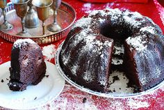 chocolate bundt cake recipe with alcohol soaked cherries by JuliasAlbum.com, via Flickr