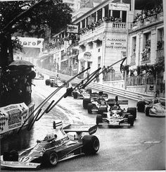 Monaco Grand Prix, 1975.  Signed by the GP winner, Niki Lauda, in the Ferrari 312T