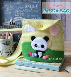 Tutorial: Felt Panda Bag, DIY, Pattern and tutorial.
