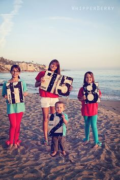 Cute idea for a sibling photo! Have each of them hold up their age. This is a holiday card in the making!