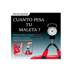 Balanza Romana Portátil para pesar maletas y paquetería. Báscula analógica. Pesa en libras y kilogramos. Peso máximo: 32 kg.