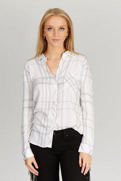 Licht ruiten blouse
