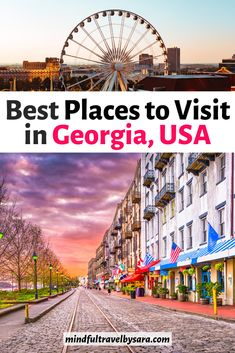 Looking for the Best Things to Do in Georgia USA? Travel through the Peach State by doing some of the coolest and Fun Things to Do in Georgia state. Travel Blog, Travel Usa, Travel Guide, Cumberland Island, Georgia Aquarium, Honeymoon Places, Georgia Usa, Savannah Georgia, Worldwide Travel