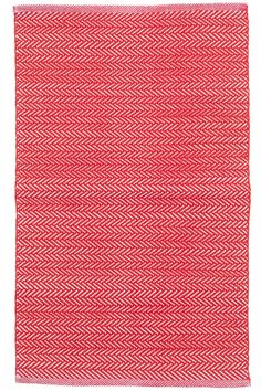 Dash and Albert C3 Herringbone Red Indoor/Outdoor Rug. When is seeing red a good thing? When it comes in the form of a bright herringbone pattern on an ultradurable indoor/outdoor rug!
