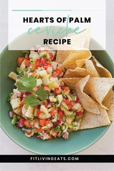 Celebrate Cinco de Mayo with this recipe for Hearts of Palm Ceviche. Simple, delicious and incredibly fresh, serve on its own, or turn into a taco with some black beans and avocado. Click through for the recipe and to learn more about Guest Chef Noeli! #veganceviche #ceviche #plantbased #nocooking #mexicanfood #caribbeanfood Raw Food Recipes, Cooking Recipes, Freezer Recipes, Drink Recipes, Cooking Tips, Vegan Appetizers, Appetizer Recipes, Mexican Dinner Recipes, Mexican Desserts