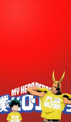 All Might and Deku My Hero Academia, Hero Academia Characters, Hero Wallpaper, Cute Anime Wallpaper, Animes Wallpapers, Cute Wallpapers, Anime Lock Screen, Kirishima Eijirou, Character Wallpaper