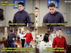 I had a dream and I don't want to talk about it. Friends Funny Moments, Friends Tv Quotes, Friends Episodes, Friends Series, Friends Tv Show, Friends In Love, Best Friends, Chandler Friends, Blessed Friends