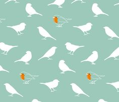 A Redbreast Among Sparrows by mariao