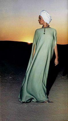 Caftan Lanvin Boutique de Luxe L'Officiel magazine 1975