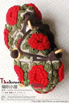 Outstanding Crochet: Interesting Crochet Bag. Charts.