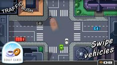 Traffic Rush iTunes Game for iPhone, iPod Touch and ipad - http://iwangun.tumblr.com/131965436095