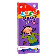 Héél veel leuke vragen voor onderweg over taal, rekenen, geschiedenis, natuur en allerlei andere voorwerpen.Met Loco Quiz oefenen kinderen op een andere en leuke manier met wat ze op school geleerd hebben. Kinderen controleren zelf of ze de vragen goed hebben gemaakt.Inhoud hard kartonnen doosje: waaier van vragenkaarten en antwoordkaarten. Afmeting: 17,5 x 7 cm. - Loco Quiz Leeftijd 8+ Groep 5