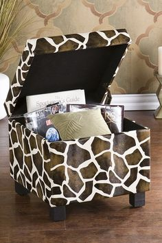 Giraffe Faux Leather Storage Ottoman by Modern Furniture and Decor Essentials on @HauteLook WANT THIS!!!