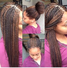 Senegalese twists by Box Braids Hairstyles, My Hairstyle, Ethnic Hairstyles, Hairstyles Videos, Hairstyles 2018, Wedding Hairstyles, Senegalese Twist Braids, Senegalese Twist Hairstyles, Cornrows