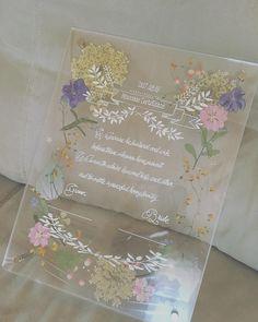 アクリルボードと押し花で手作りする結婚証明書のデザイン集 | marry[マリー] Wedding Cards, Our Wedding, Wedding Invitations, Wedding Certificate, Pressed Flower Art, Bridal Shower Party, Floral Theme, Marry You, Purple Gold