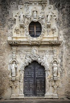 Main door Mission San Jose, San Antonio Texas