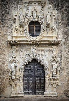 crescentmoon06: Main Door, Mission San Jose, San Antonio, Texas