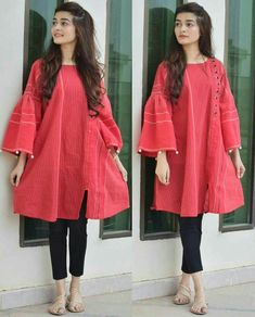 Pakistani fashion casual Source by fifianievivi dresses indian Stylish Dresses For Girls, Stylish Dress Designs, Frocks For Girls, Casual Dresses, Casual Frocks, Simple Dresses, Kids Frocks, Summer Dresses, Stylish Girl