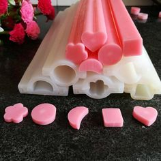 Heart Round Star Various Shapes Silicone Tube Soap Mold Moon