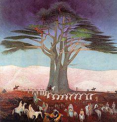 Kosztka, Tivadar Csontvary (1853-1919) - 1907 Pilgrimage to the Cedars of Lebanon (Hungarian National Gallery, Budapest, Hungary)