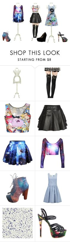 """3 outfits <3"" by scream-kittykat ❤ liked on Polyvore featuring Benzara, Mairi Mcdonald, Jeffrey Campbell, macgraw, Iron Fist and Delicious"