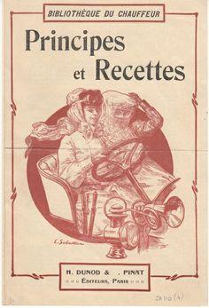 """Instructions for the driver """"Bibliothèque du chauffer: Pricipes et Recettes"""", ca. 1900, Paris #Booktower"""