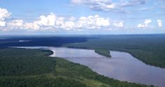 Voici le fleuve qui traverse l'Amazonie.