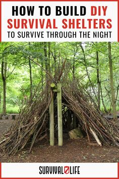 These 9 DIY survival shelters could just save your life when the sun is getting low and you're out of luck! #survivalshelter #DIYsurvivalshelter #survivalskills #survivaltips #survival #survivallife Survival Shelter, Survival Life, Survival Tools, Camping Survival, Outdoor Survival, Emergency Preparedness, Outdoor Shelters, Sun, Solar
