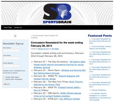 Concussion Newsstand: Concussion related articles and commentary, February 22nd through February 28, 2014