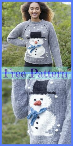 c064f35f98da3 Knit Adorable Snowman Sweater - Free Patterns