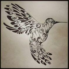 Hummingbird tattoo , mom tattoo , tribal tattoo , tattoo design by Chelsie Haeg