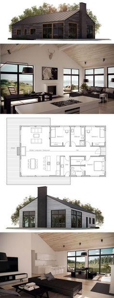 Husplan, Zero Energy Home, Zero Energy House Plan, Passive House plan. New House Plans, Modern House Plans, Small House Plans, Modern House Design, Simple Home Plans, Open Concept House Plans, Modular Home Plans, Simple Floor Plans, Modern Floor Plans