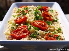 » Couscous-salat med rødløk, sitron, urter og ovnsbakte tomater Fried Rice, Vegetarian Recipes, Food Porn, Dinner, Ethnic Recipes, Couscous, Inspiration, Dining, Biblical Inspiration