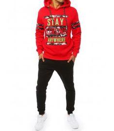 Červeno-čierna pánska súprava Graphic Sweatshirt, Sweatshirts, Sweaters, Fashion, Hoodies, Fashion Styles, Sweater, Trainers, Fashion Illustrations