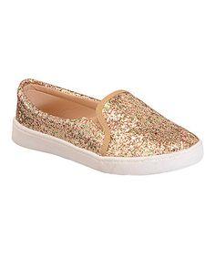 Look what I found on #zulily! Gold Glitter Elsa Slip-On Sneaker #zulilyfinds