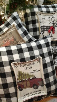 ChristmasBuffalo Plaid Christmas Reindeer Farmhouse