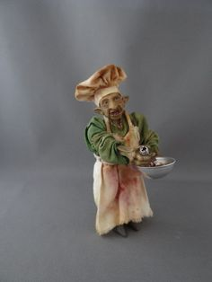 Goblin Chef 1:12 scale Witch Haunted Dollhouse Miniatures OOAK Pat Benedict