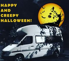 Happy and creepy Halloween! #van #vanlife #vanlifediaries #vanlifers #vanagon #vanagonlife #vanagonlove #camper #campervan #campervanlife #camperlife #westfalia #sprintervan #sprintervanlife #travelling #travel #ontheroad #ontheroadagain #roadtrip #nomads #wanderlust #adventure #bus #buslife #halloween #vanlifemovement #projectvanlife #adventuremobile #travelgram #tinyhouse