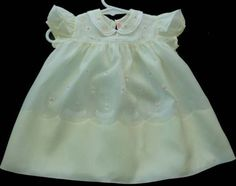 Vintage-Stunning-yellow-Batiste-Baby-Dress-93-Rolled-roses