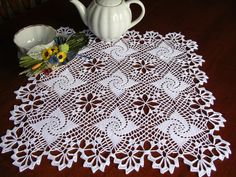 christmas crochet doily lace square placemat tablecloth centerpiece napperon table topper decor wedding unique birthday gift for mothers day Crochet Doily Patterns, Crochet Doilies, Crochet Lace, Mother Birthday Gifts, Unique Birthday Gifts, Lace Centerpieces, Easter Crochet, Lace Doilies, Ideas