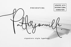 Pattersonville is a signature style handwritten script with so much unique character, making it perfect for every different design style out there. Pattersonville Script Font by Creativeqube Design on @creativemarket