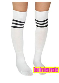 5ed20d049c3 Knee high three striped tube socks Keep your feet and calf warm in cold  weather Great