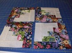 Easy triangles from Molly Flanders. Thank you Molly; this is an excellent tutorial.. Quilting Projects, Quilting Ideas, Quilt Patterns, Log Cabin Quilts, Fabric Strips, Floral Fabric, Quilt Making, Heart Pillow, Quilt As You Go