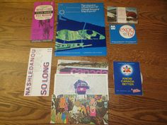 1967 Montreal Expo Official Unopened Postcards Flyers Maps
