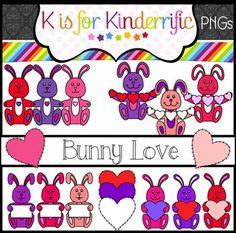 Valentine's Day Clip Art:  Bunny Love