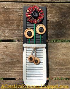 mini sunflower shutter #diy #crafts