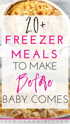 Whether you're a new mom to be, or a busy mom looking to save time and money, these delicious freezer meal ideas are perfect for the entire family! #momhacks #freezermeals #dinnerrecipes #crockpotrecipes #instantpot #pregnant #breakfastrecipes #lunch #motherhood